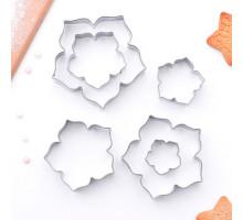 Набор форм для вырезания «Лепестки петуньи», 7,5×7 см, 6 шт
