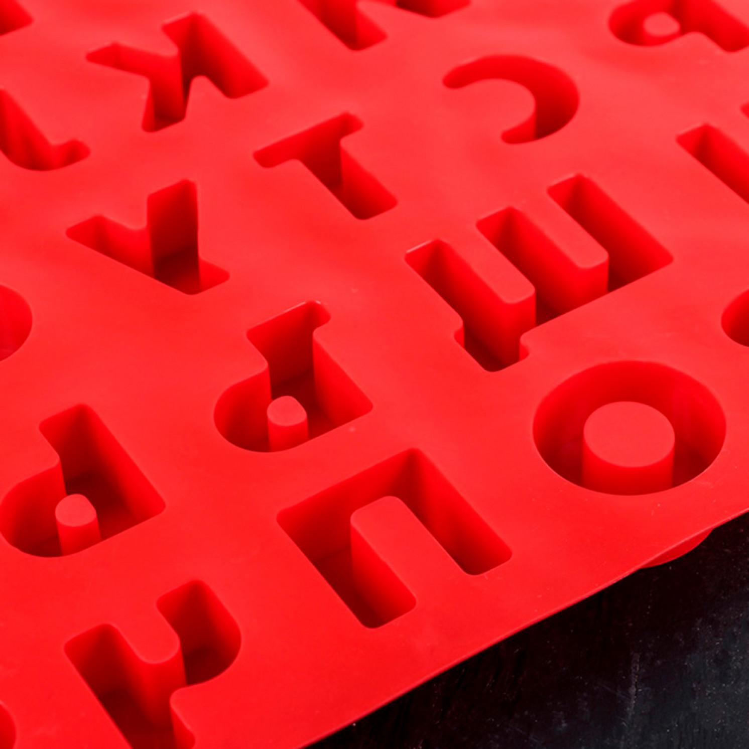 Форма для льда и шоколада 36,6×26,6 см «Буквы и цифры. Алфавит русский», 37 ячеек, цвет МИКС