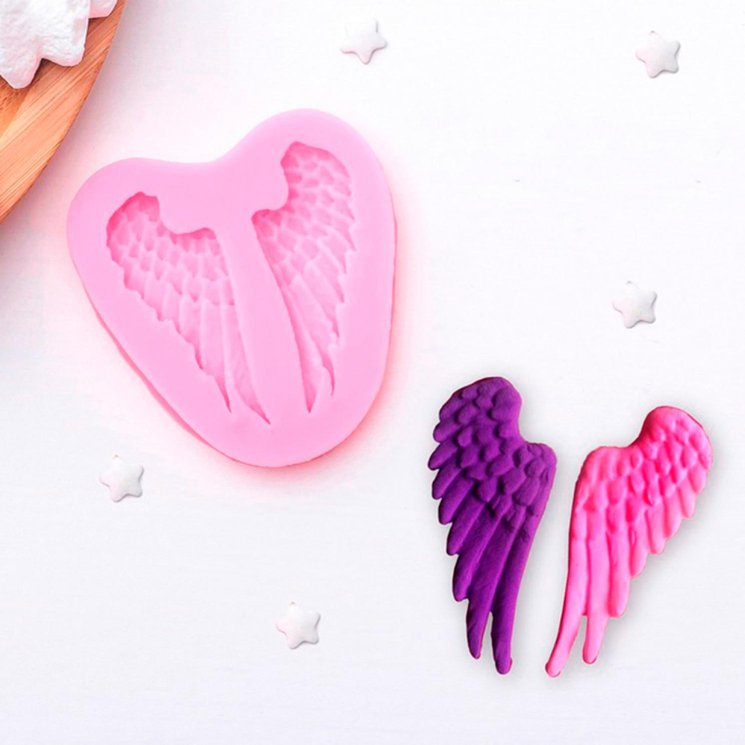 """Молд силиконовый 7×6,5 см """"Крылья"""""""
