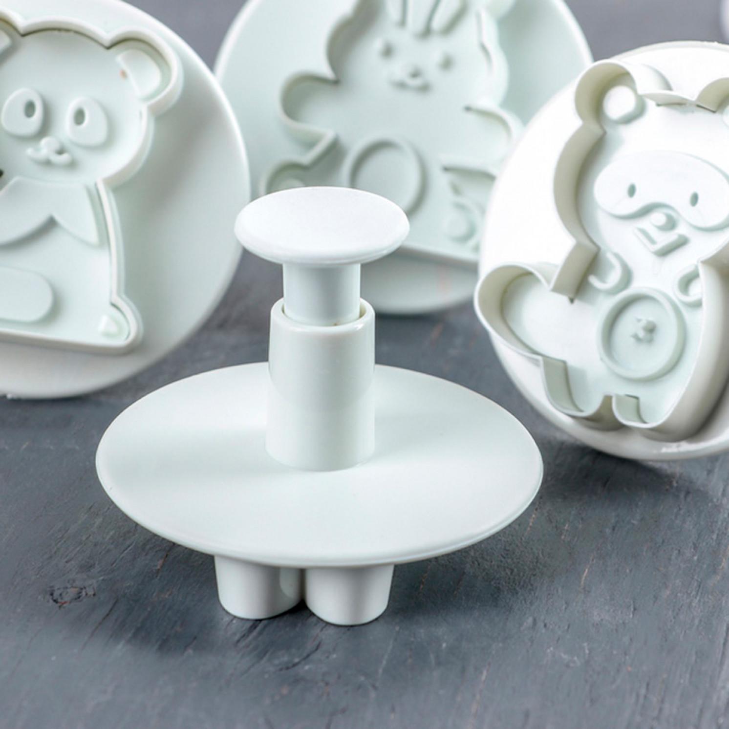 Набор плунжеров кондитерских «Мягкая игрушка», 4 шт, цвет МИКС