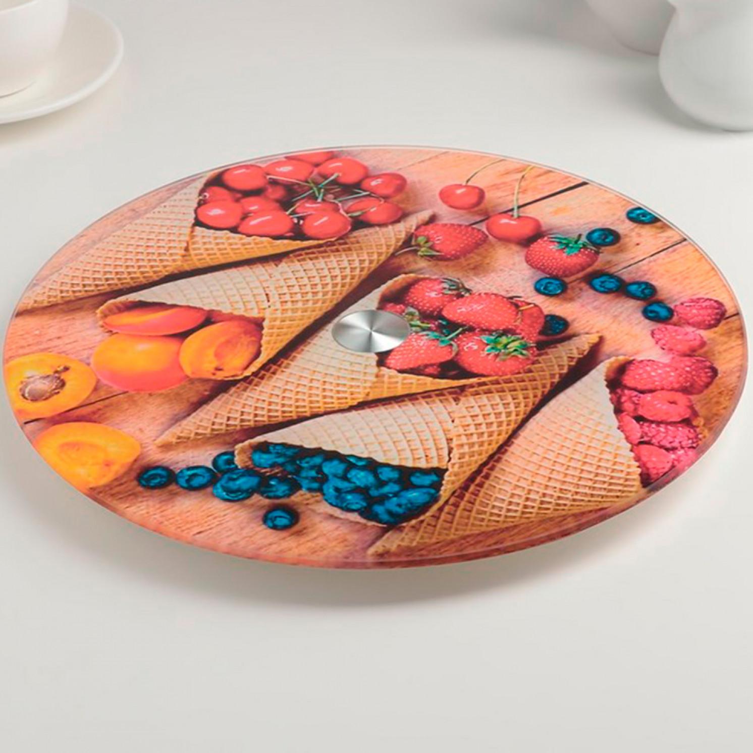 Подставка для торта вращающаяся «Сладость», d=28 см