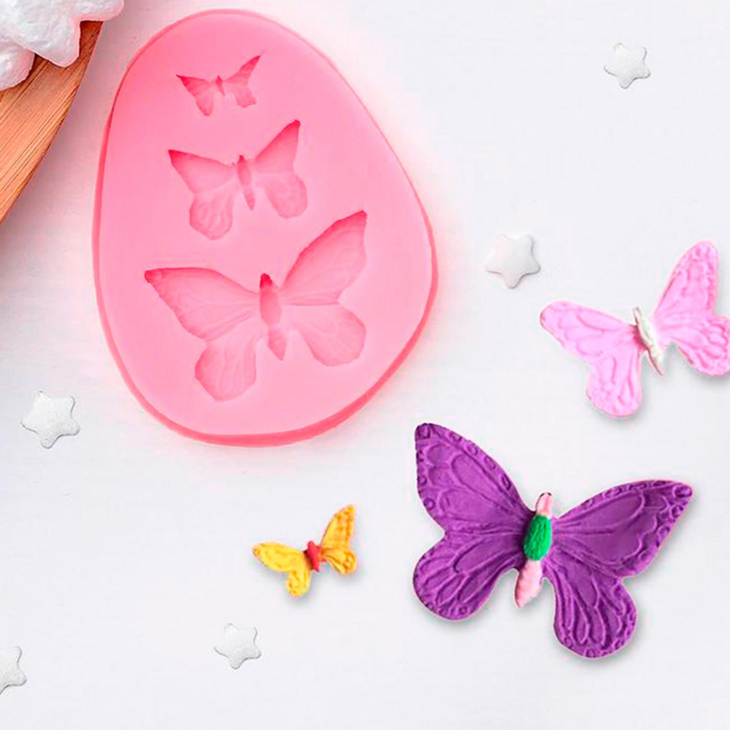 """Молд силиконовый 7,5×6 см """"Бабочки"""""""