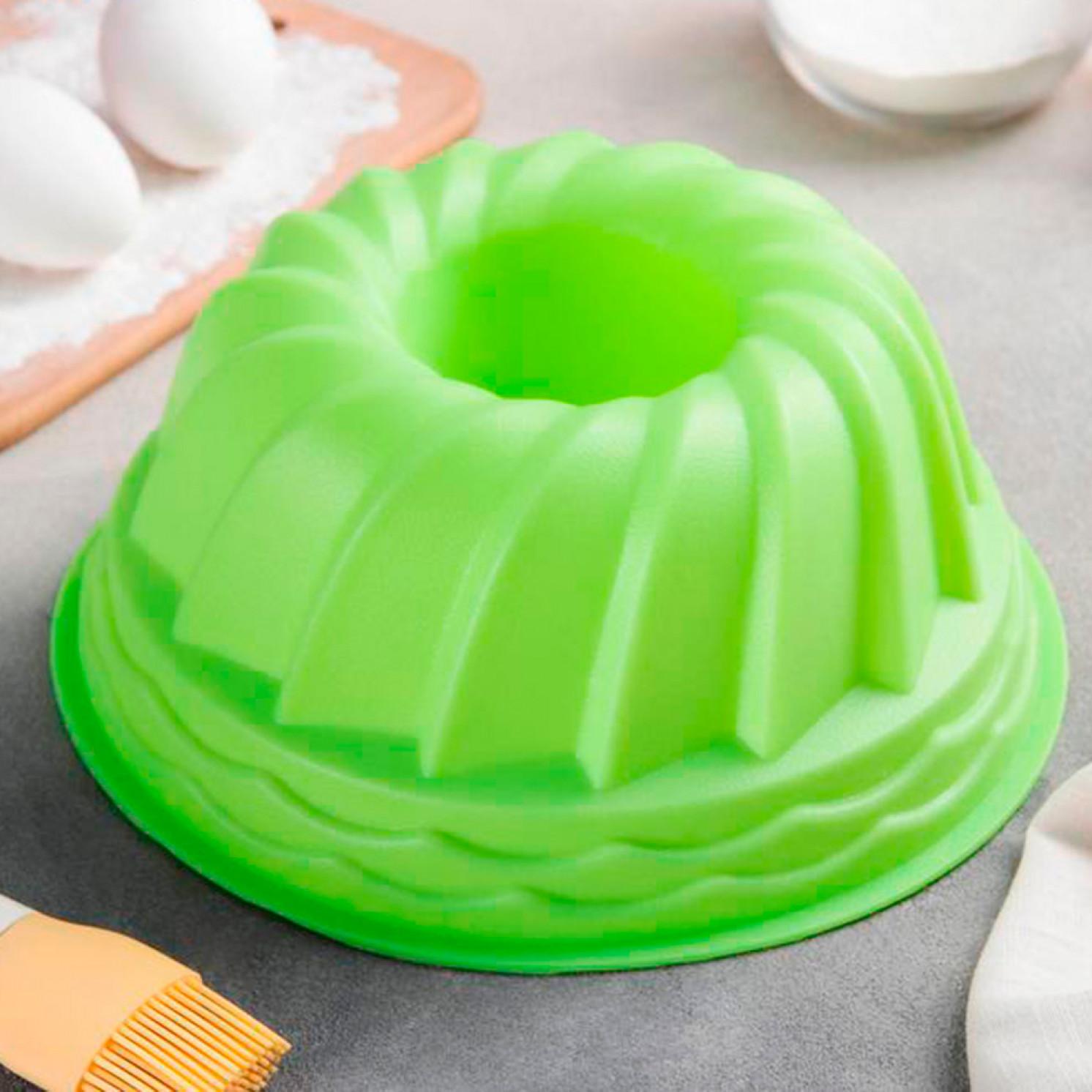 """Форма для выпечки 24 см """"Немецкий кекс. Заварное печенье"""", цвета МИКС"""