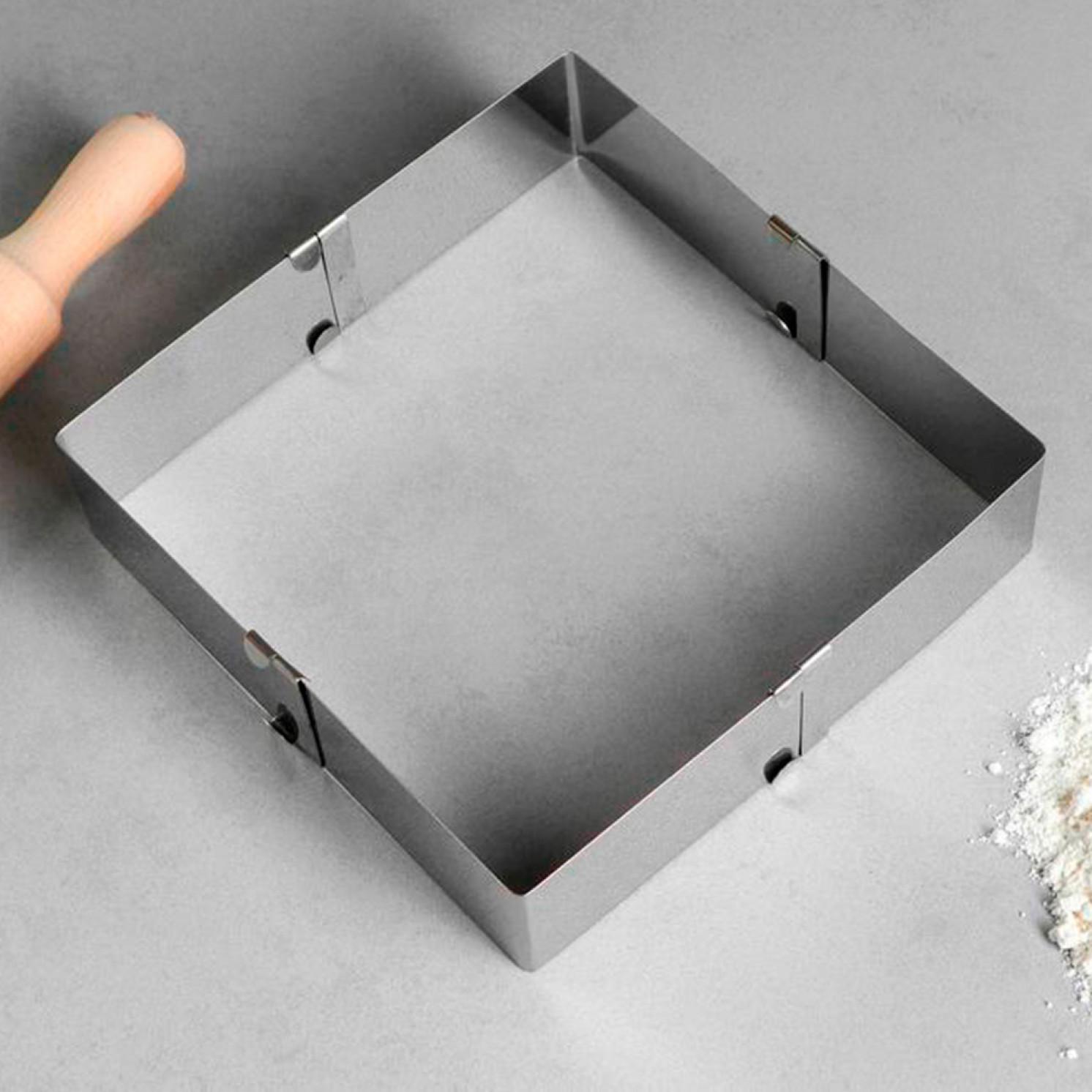 """Форма для выпечки с регулировкой размера """"Квадратная"""", 10-18 х 5 см"""