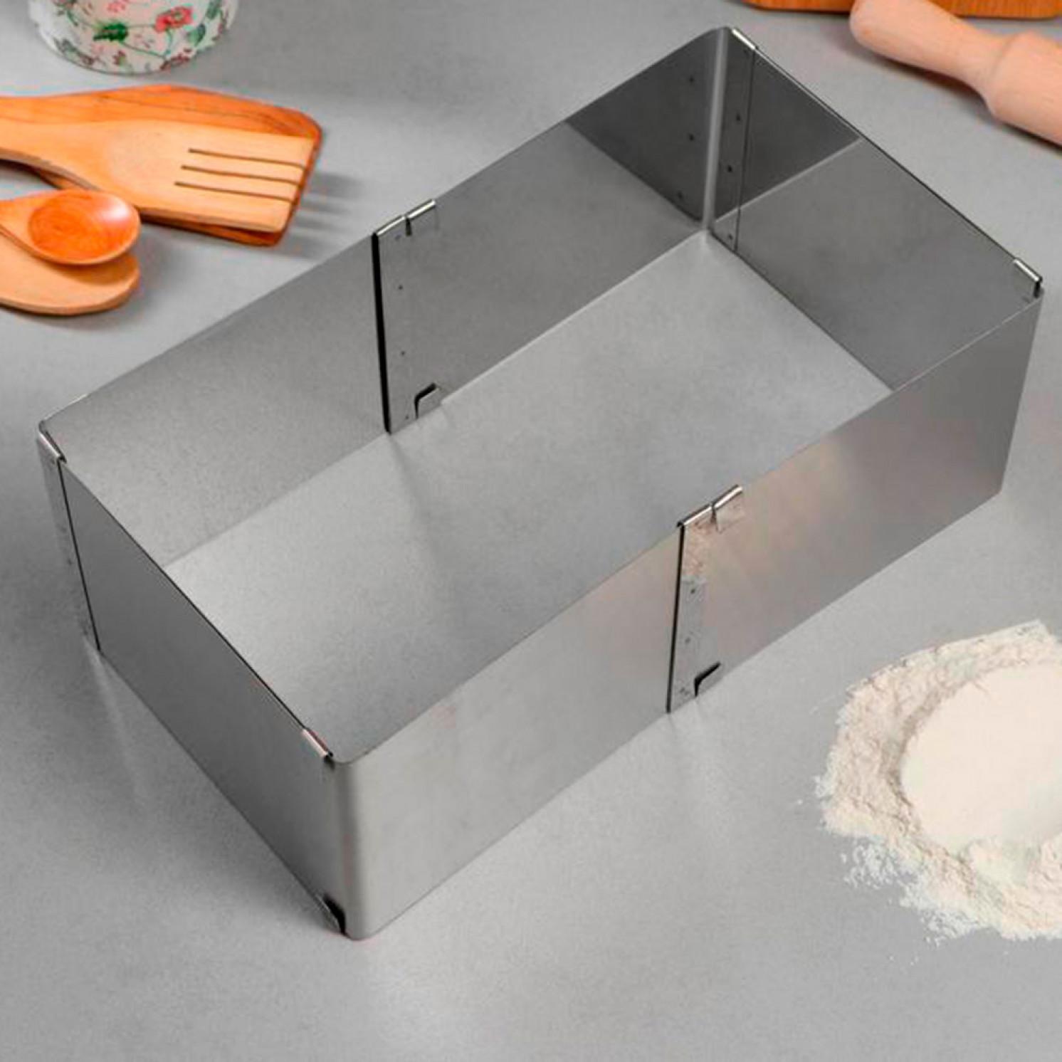 """Форма для выпечки с регулировкой размера """"Квадратная"""", H-10 см, 16х16 - 28х28 см"""