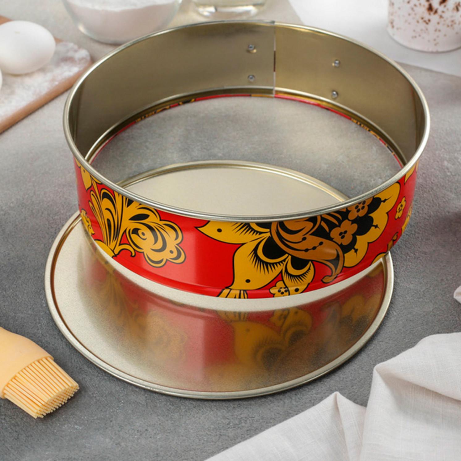 """Форма для выпечки разъёмная """"Хохлома"""", d=24 см, с антипригарным покрытием"""