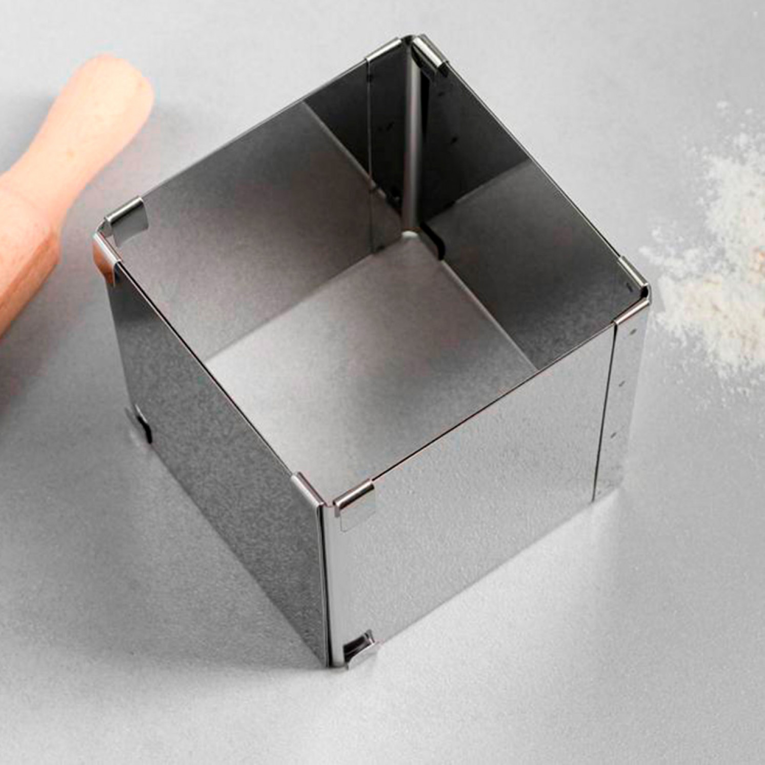 """Форма для выпечки с регулировкой размера """"Квадратная"""", H-10 см, 10х10 - 18х18 см"""