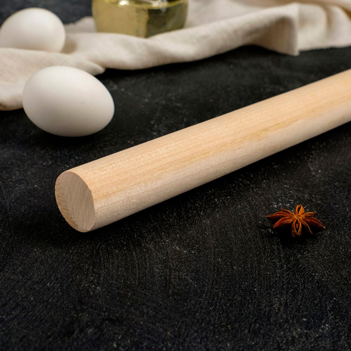 Скалка прямая 40×3 см, берёза
