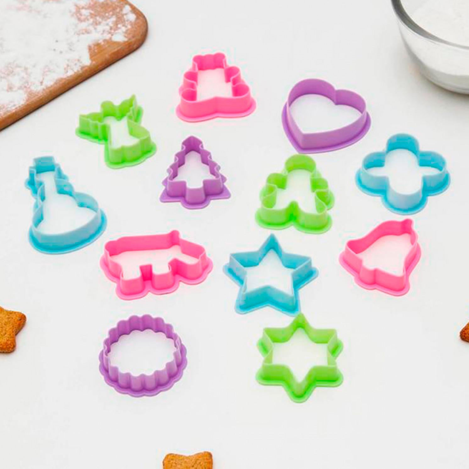 Набор форм для печенья «Праздник», 12 шт
