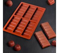 Форма для шоколада «Плитка», 26×17×1,5 см, 6 ячеек, цвет шоколадный