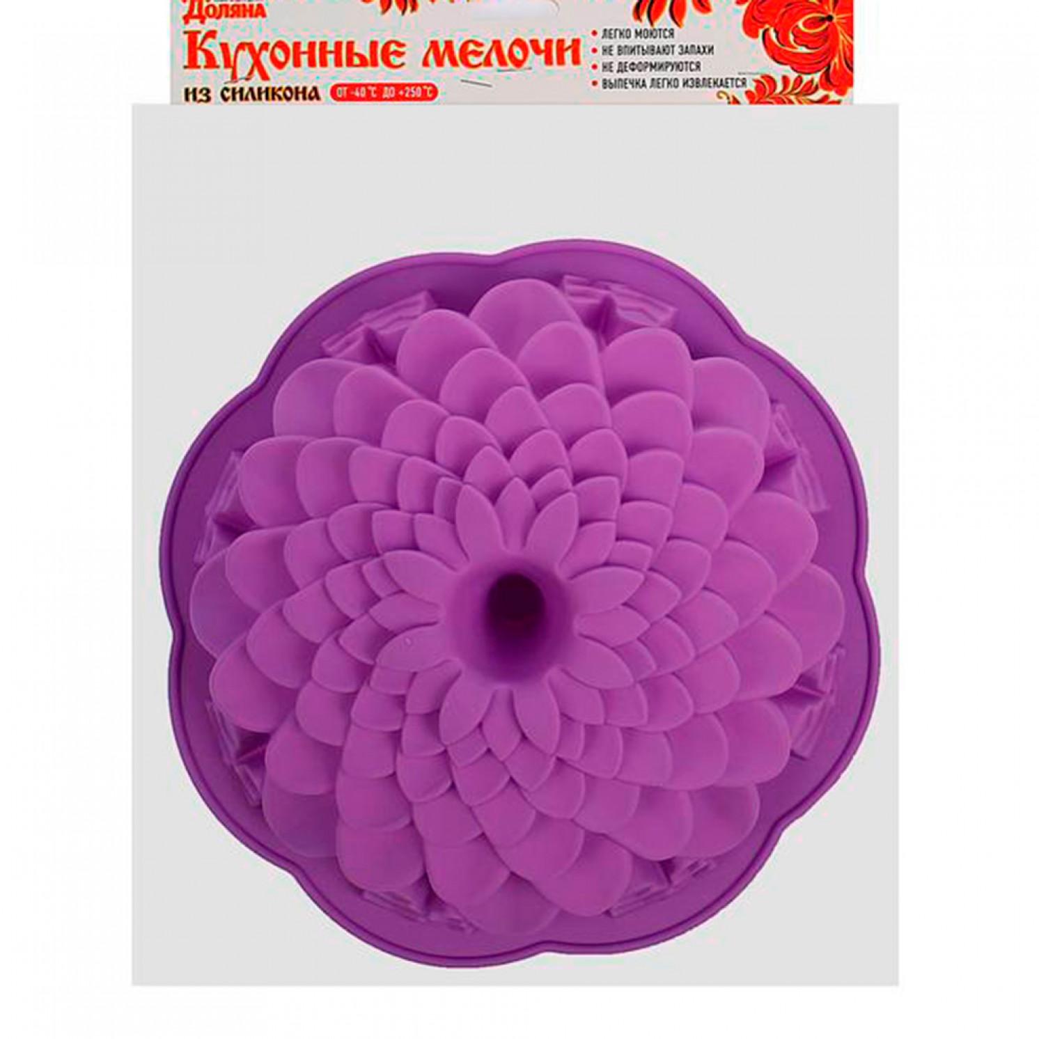 "Форма для выпечки ""Хризантема"", цвета МИКС"
