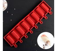 Форма кондитерская для леденцов и мороженого «Моника», 39×11,5 см, 8 ячеек (6,6×3,4 см), цвет МИКС