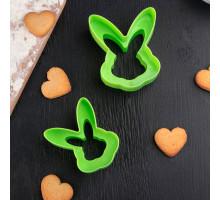 Набор форм для вырезания печенья «Пасхальный кролик», 2 шт