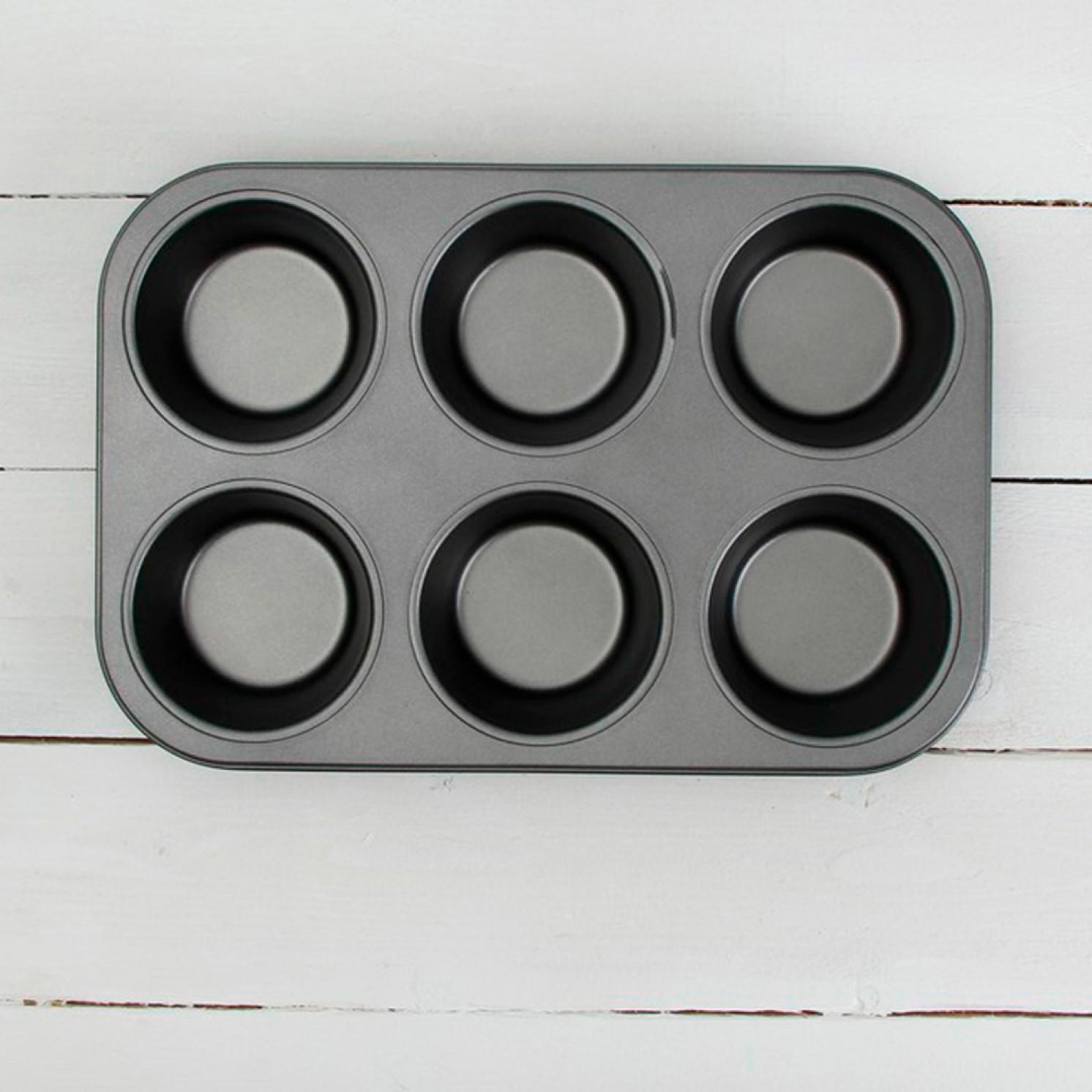 Форма для выпечки «Жаклин. Круг», 6 ячеек, с антипригарным покрытием