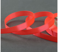 Лента атласная, 10 мм × 23 ± 1 м, цвет неоновый оранжевый №145