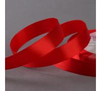 Лента атласная, 20 мм × 23 ± 1 м, цвет красный №26
