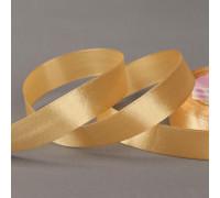 Лента атласная, 20 мм × 23 ± 1 м, цвет золотисто-бежевый №56