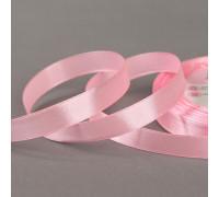 Лента атласная, 12 мм × 23 ± 1 м, цвет розовый №124