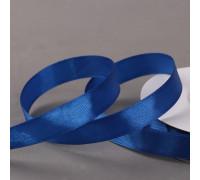 Лента атласная, 12 мм × 27 ± 1 м, цвет синий