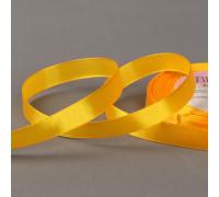 Лента атласная, 12 мм × 23 ± 1 м, цвет оранжевый №16