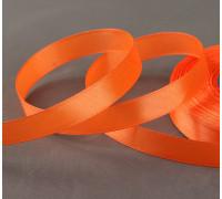 Лента атласная, 12 мм × 33 ± 2 м, цвет оранжевый №023