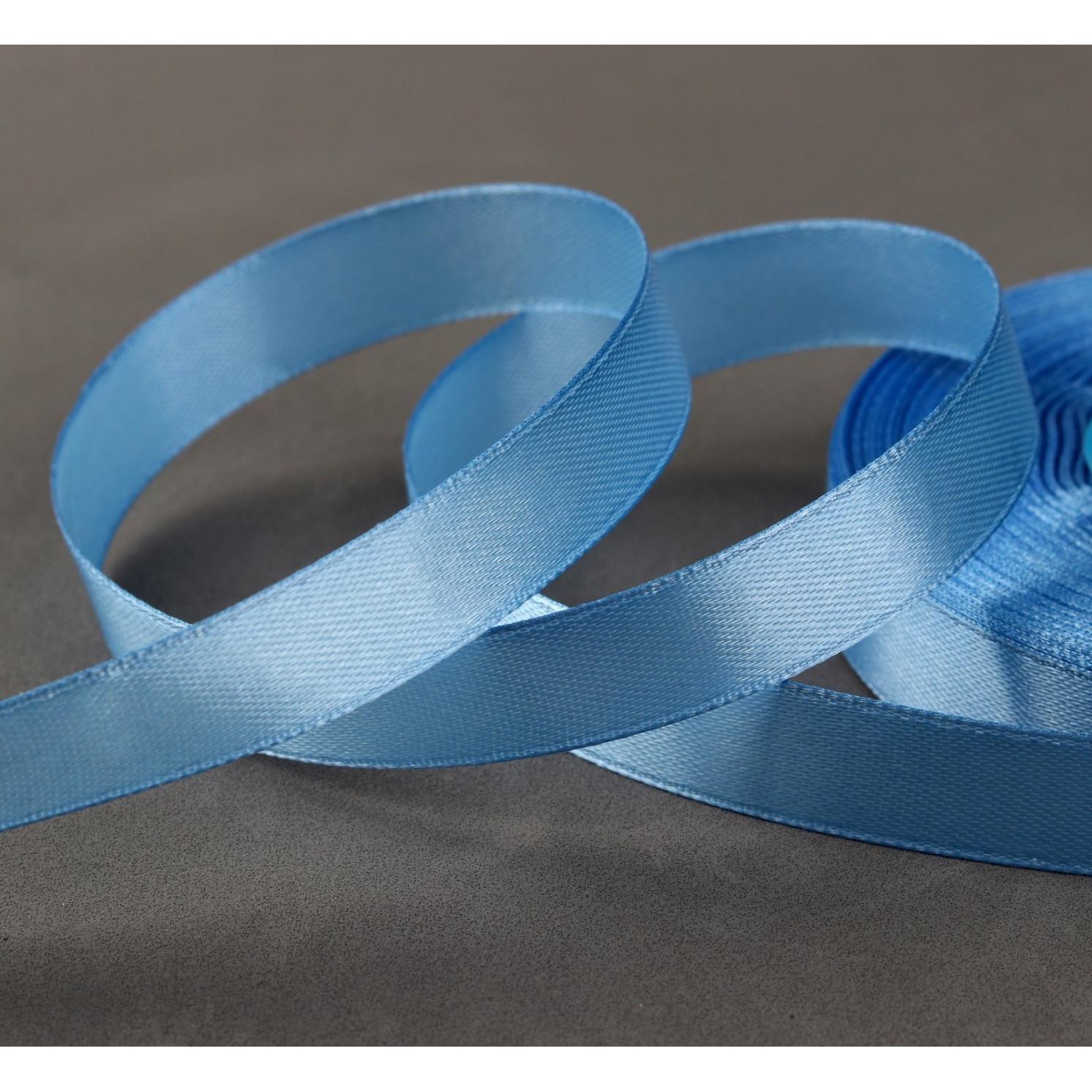 Лента атласная, 12 мм × 33 ± 2 м, цвет голубой №049