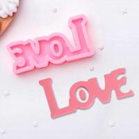 Молд силиконовый «Любовь», 14,5×7,5см, цвет розовый