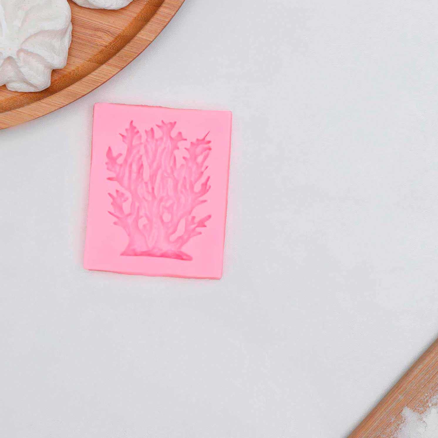 Молд «Коралл», 6×5,5×1 см, цвет розовый