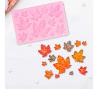 Молд силиконовый «Листья», 9,5×6,3 см, цвет МИКС