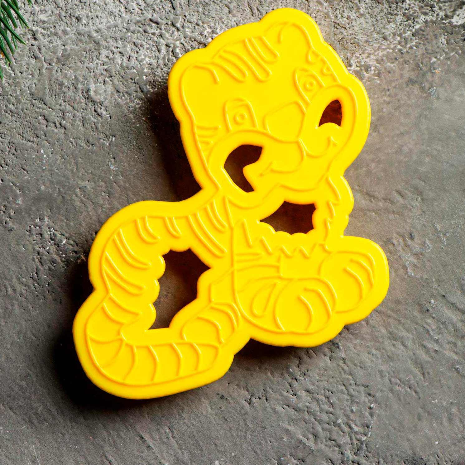 Форма для печенья и пряников «Тигрёнок», 11,5×7,5×1,5 см
