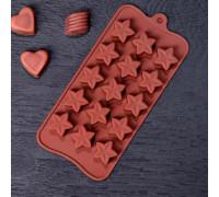Форма для льда и шоколада «Звездочёт», 20,5×10,5×1,5 см, 15 ячеек