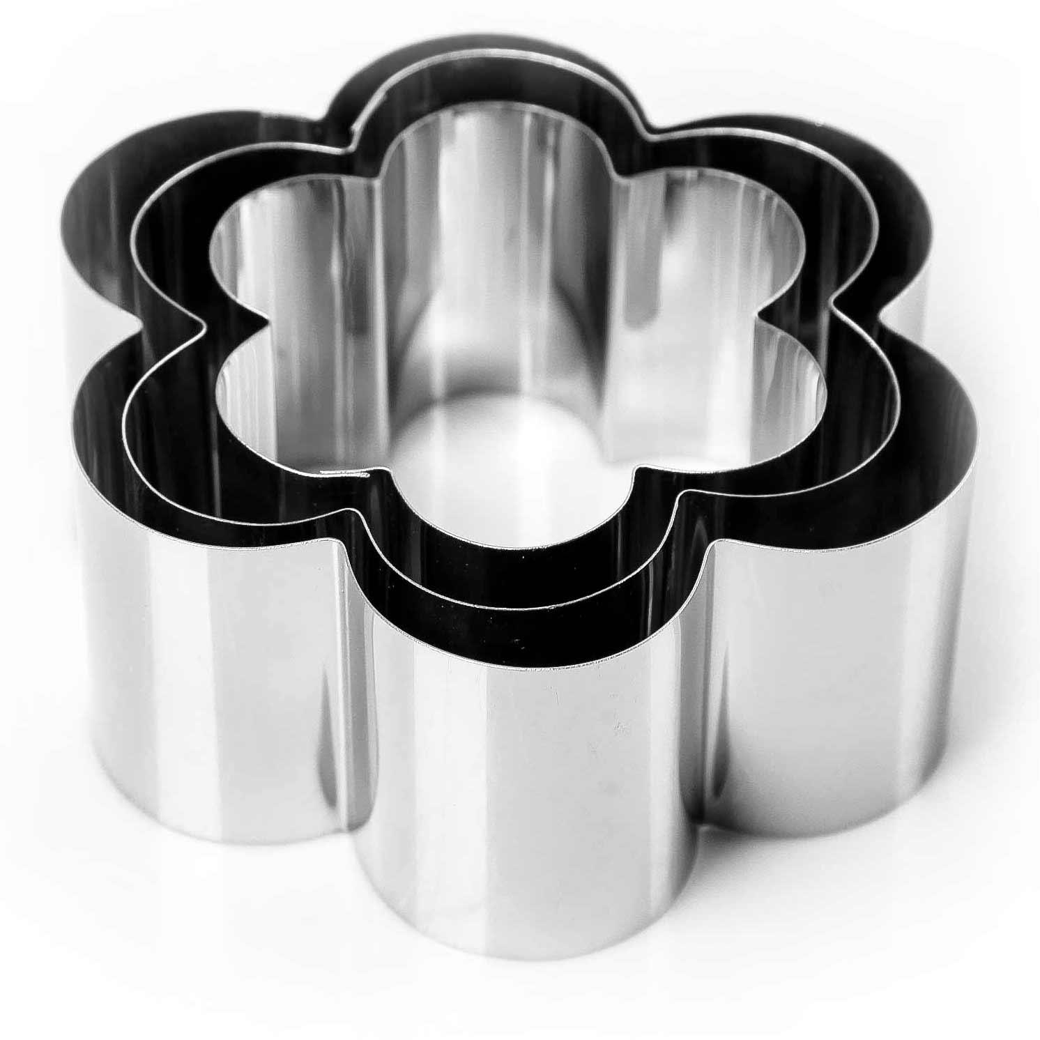 """Набор форм для выпечки и выкладки """"Цветок"""", 12 х 12 х 5 см, 3 шт."""