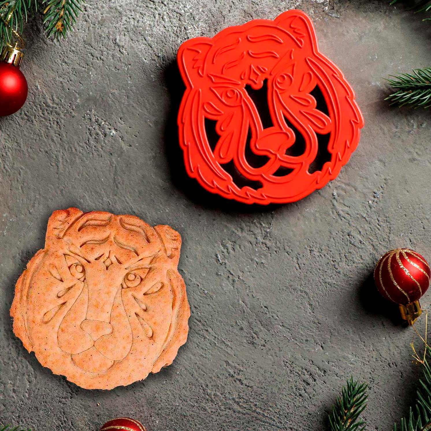 Форма для печенья и пряников «Тигр», 9,5×9,5×1,5 см