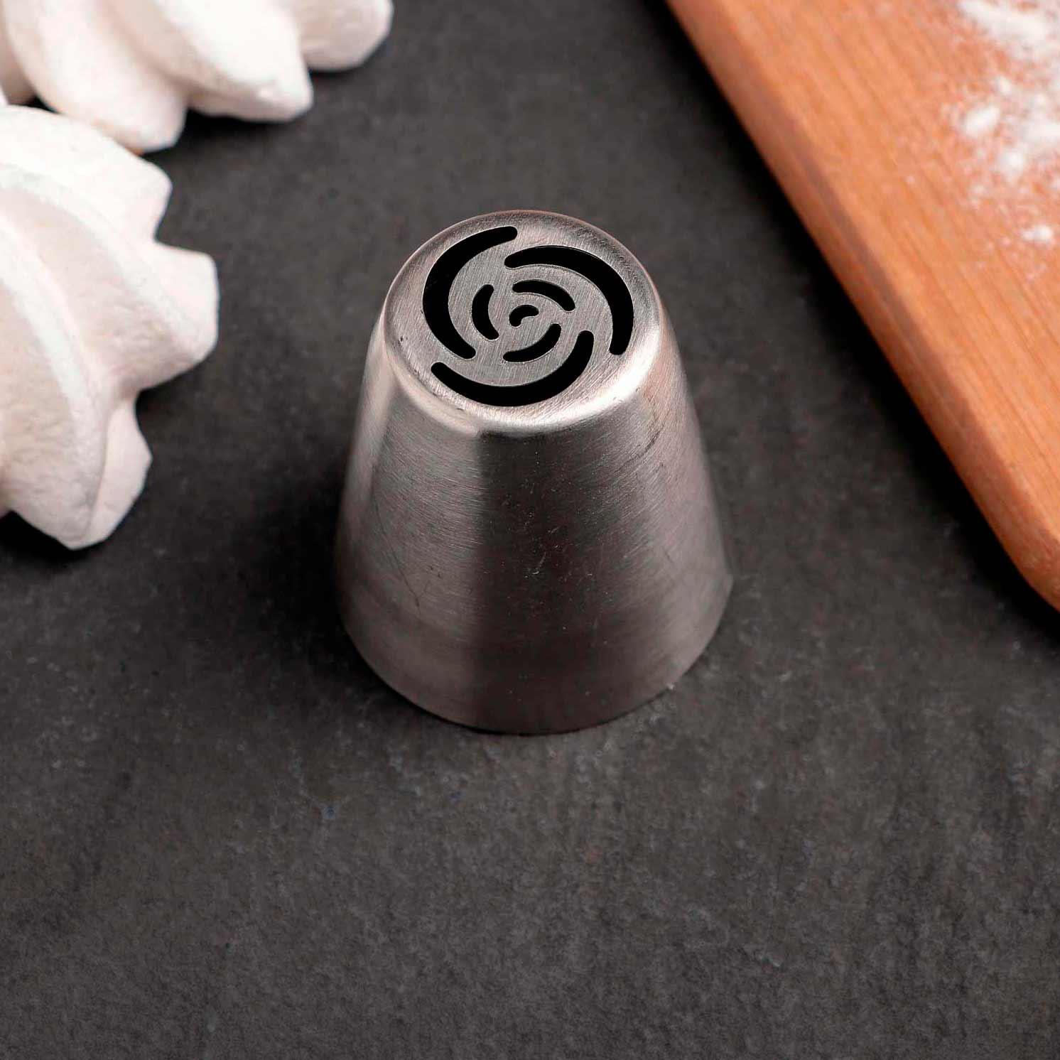 Насадка кондитерская «Цветок», d=3,7 см, вых. 2,4 см