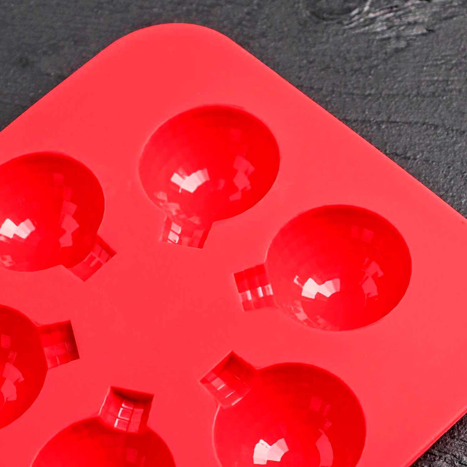 Форма для льда и кондитерских украшений «Воздушный шар», 15×15×2 см, 6 ячеек, цвет МИКС
