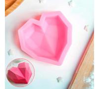 Молд силиконовый «Сердце», 7×6,5×2,5 см