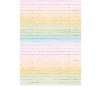 Фотофон «Радужный кирпич», 70 × 100 см, бумага, 130 г/м