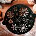 Трафарет для выпечки «Острые снежинки», 19 × 22 см