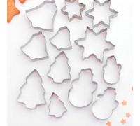 Набор форм для вырезания печенья «Рождество», 12 шт