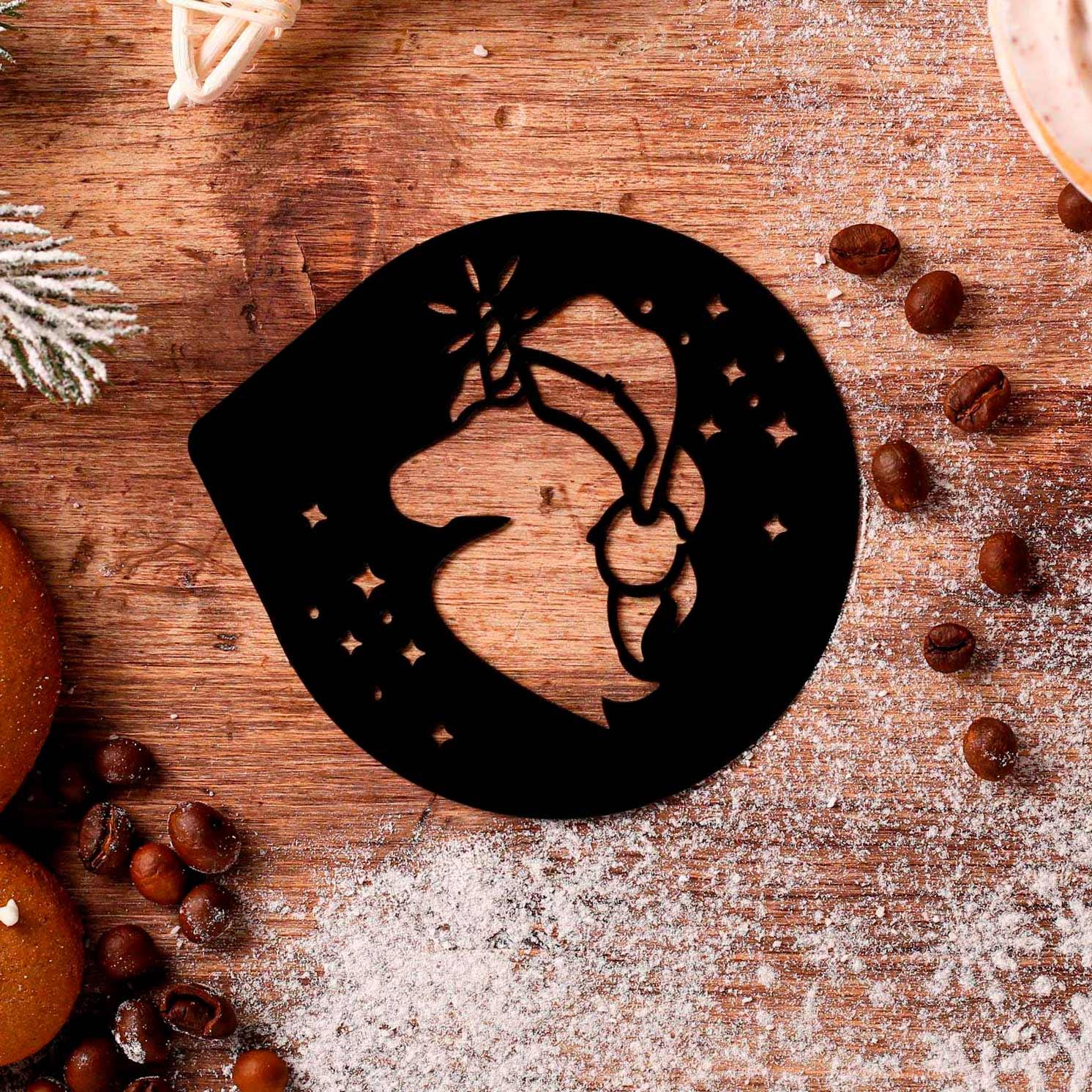Трафарет для кофе «Новогодний единорог», 9,5 × 8,5 см