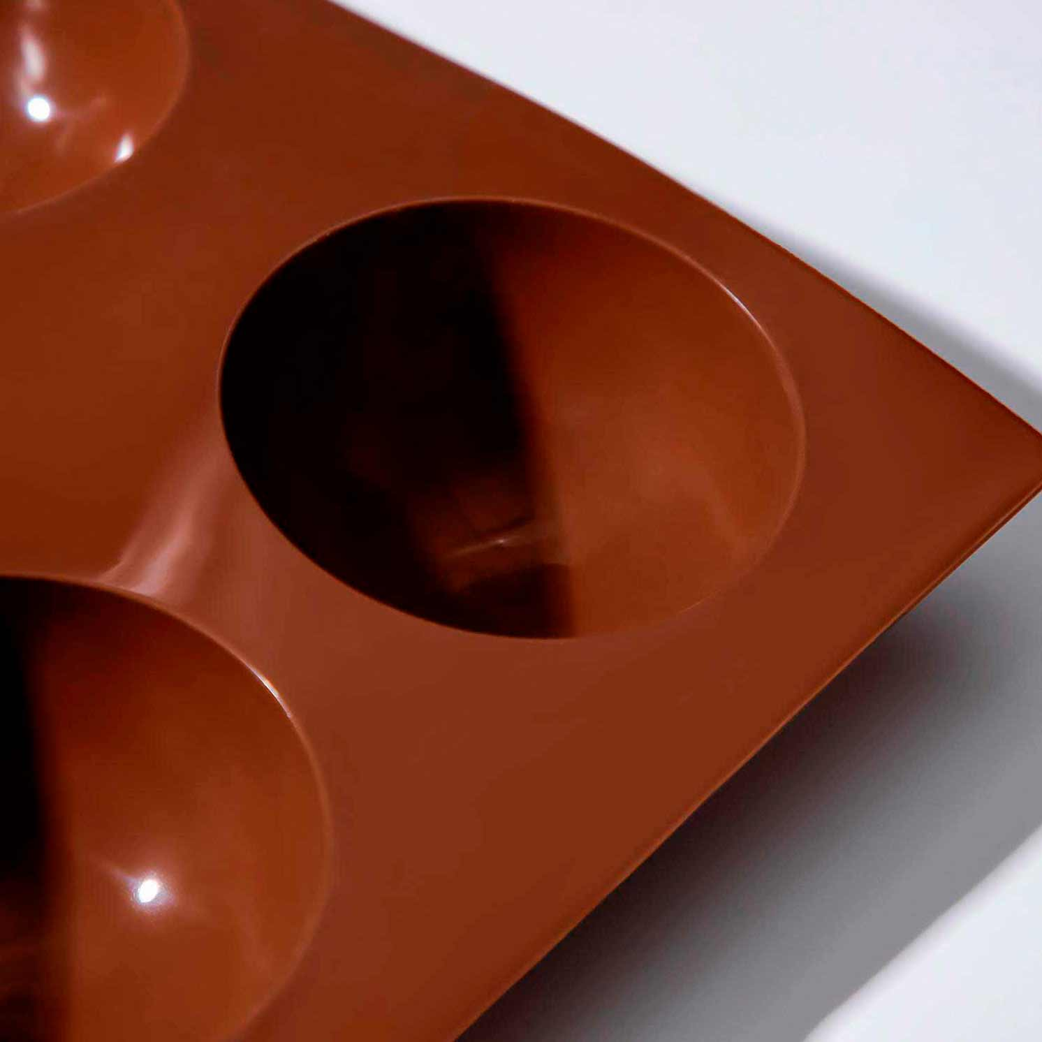 Форма для выпечки «Полусфера», 27×18 см, 6 ячеек (d=6,5 см), цвет МИКС