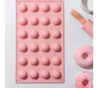 Форма для выпечки 29×16,5 см «Полусфера», 24 ячейки, цвет МИКС