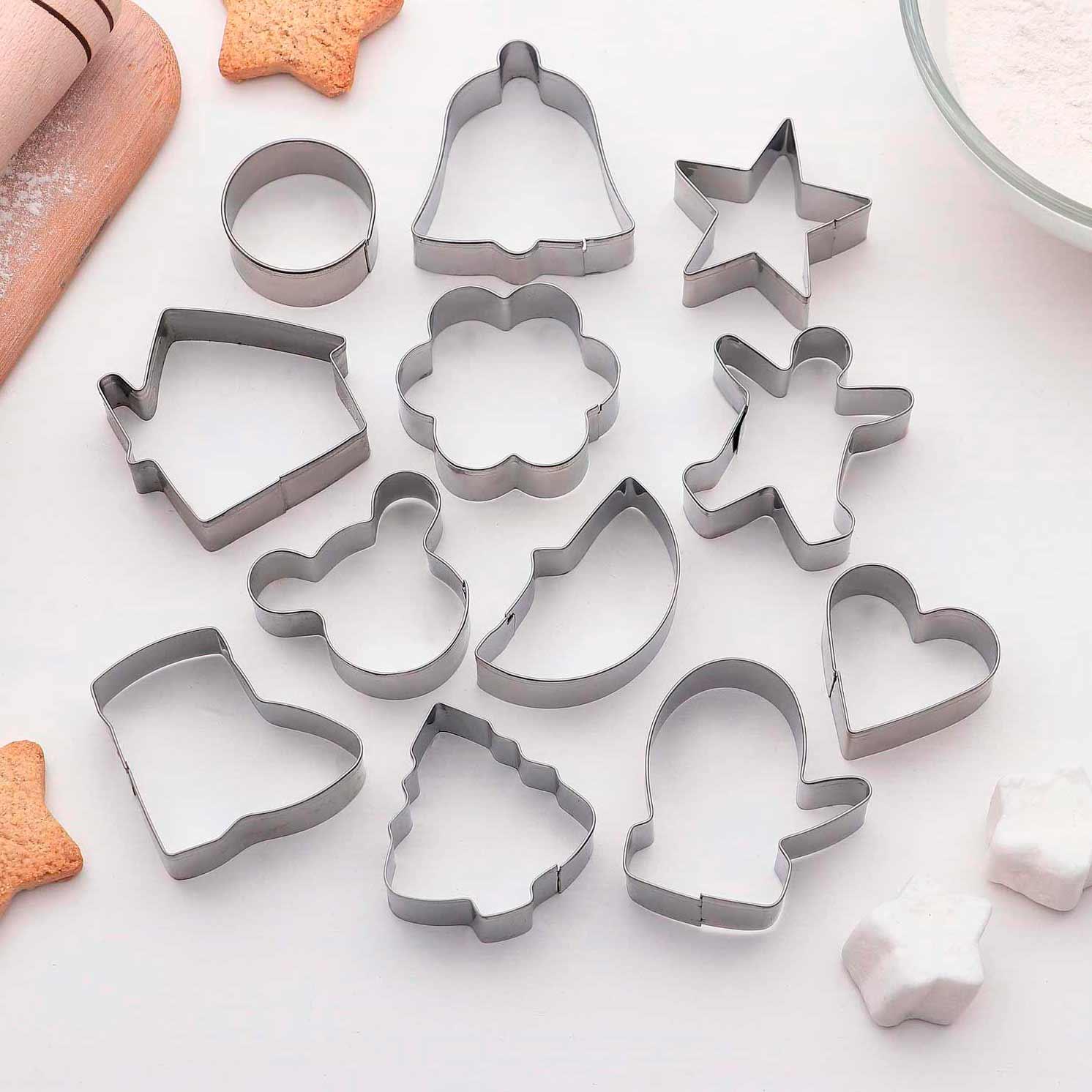 """Набор форм для вырезания печенья """"Новогодняя сказка"""", 12 шт"""