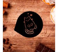 Трафарет для кофе «Котенок», 9,5 х 8,5 см