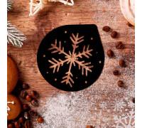 Трафарет для кофе «Снежинка», 9,5 × 8,5 см
