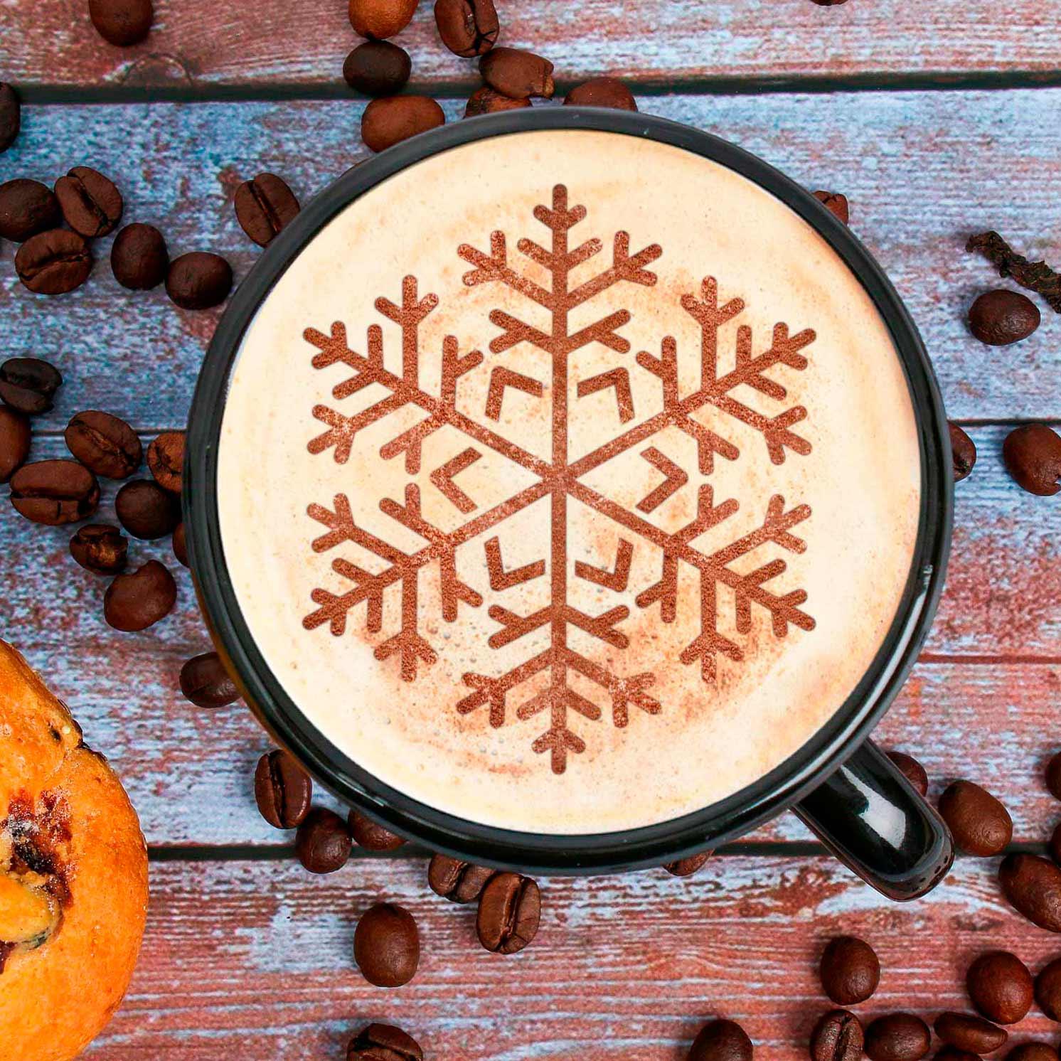 Трафарет для кофе «Снежинка», 9.5 × 8.5 см