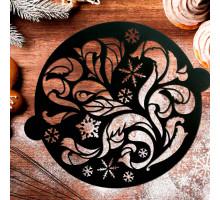 Трафарет для выпечки «Морозный узор», 19 × 22 см