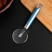 Нож для пиццы и теста Lаgооnа, 19 см, нержавеющая сталь, цвет голубой металлик