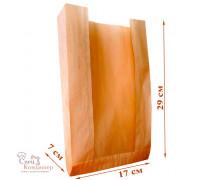Пакет бумажный 170х70х290 ВПМ-40г/м2 бежевый с окном