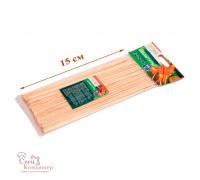 Шампуры для шашлыка, бамбук, 15 см, 100 шт/уп